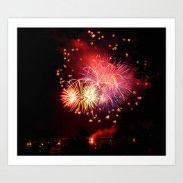 Fireworks 2013 Art Print