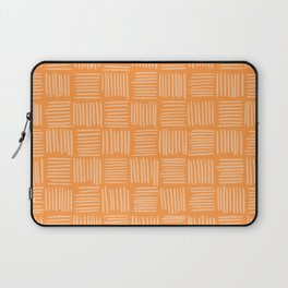 Sherbet Orange Basketweave Laptop Sleeve