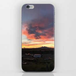 Cody Sunset Over Heart Mountain iPhone Skin