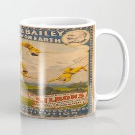 Vintage poster - Circus Trapeze Act Coffee Mug
