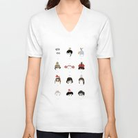 hayao miyazaki V-neck T-shirts featuring Miyazaki 's World by Jarvis Glasses