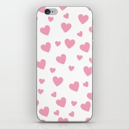 Hearts pattern - pink iPhone Skin