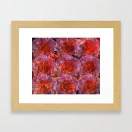 Fire Peonies Framed Art Print