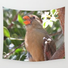 Female Cardinal Wall Tapestry