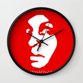 The Freaky Red Poster Wall Clock