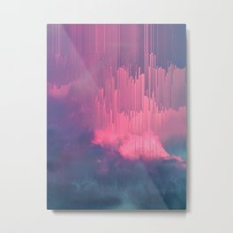 Sweet Stormy Glitches Metal Print