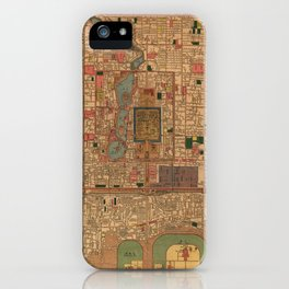 Vintage Map of Beijing China (1914) iPhone Case