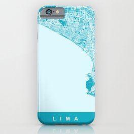 LIMA Map Print Aqua | More Colors, Review My Collections iPhone Case