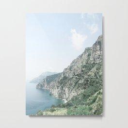 Summer Italian Coast Metal Print