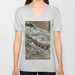 Wildlife Collection: Crocodile Unisex V-Neck