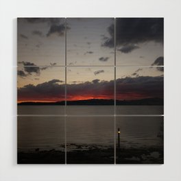 Sunset Over Taupo Wood Wall Art