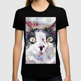 watercolor kitty T-shirt