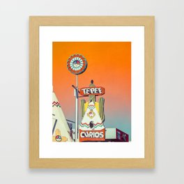 Orange TePee Neon Sign on Route 66 Framed Art Print