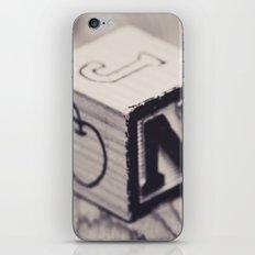 Toy cube... Monochrom iPhone & iPod Skin