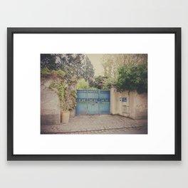 The blue garden. Framed Art Print