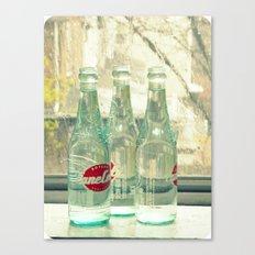 rainy day ~ vintage soda bottles Canvas Print
