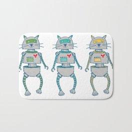 The Cat-Bot Trio Bath Mat