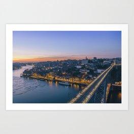 Porto from Serra do Pilar. Art Print