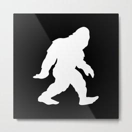 Bigfoot Sasquatch Silhouette Cartoon Metal Print