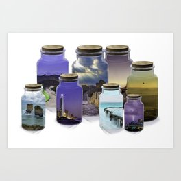 Bottled World Art Print
