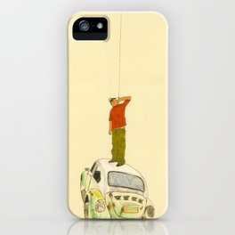 man listening something from the sky iPhone Case