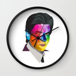 Shah Rukh Khan - popart portrait Wall Clock