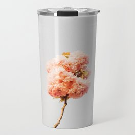 Pillars Of Pastel Pink Flowers Romantic Vintage Florals Travel Mug