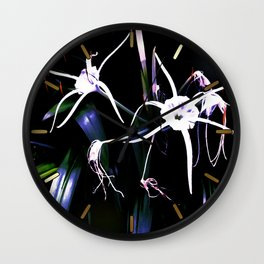 Spider Lilies Wall Clock