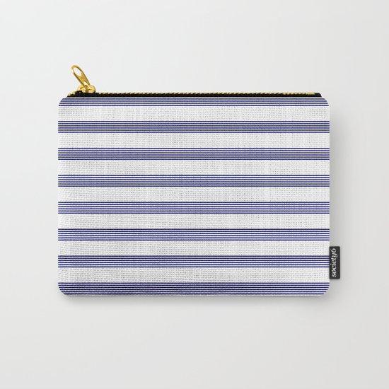 Blue- White- Stripe - Stripes - Marine - Maritime - Navy - Sea - Beach - Summer - Sailor 2 Carry-All Pouch