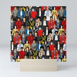 King MJ Pop Music Fashion LV Mini Art Print