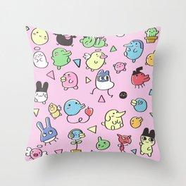Tamagotchis Throw Pillow