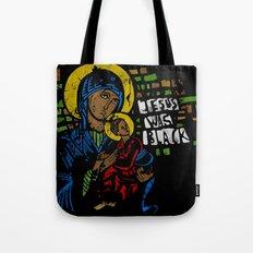 Jesus was black Tote Bag