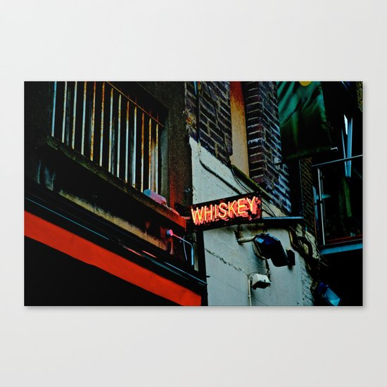 Back Alley Whiskey Canvas Print