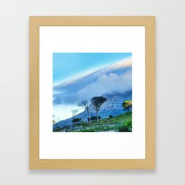 Table Mountain blanketed in cloud Framed Art Print