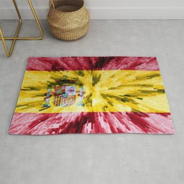 Extruded Flag of Spain Rug