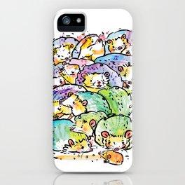 Hedgehog family iPhone Case