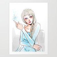 elsa Art Prints featuring Elsa by The Radioactive Peach
