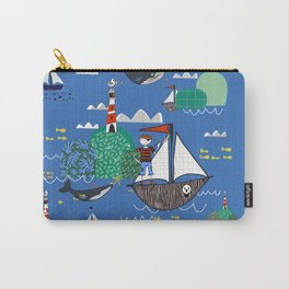 Pirates Ahoy Blue Carry-All Pouch