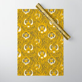 Tigers on Yellow Wrapping Paper