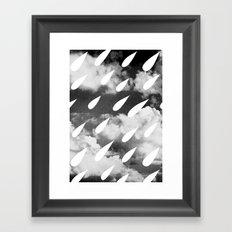 Storm Clouds + Droplets Framed Art Print