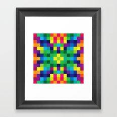 Colorful Geometric Background II Framed Art Print