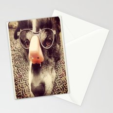 Hiding behind a disguise. Stationery Cards