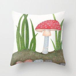 Amanita Muscaria Throw Pillow