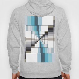 Retro Stripes Blue And Brown Hoody