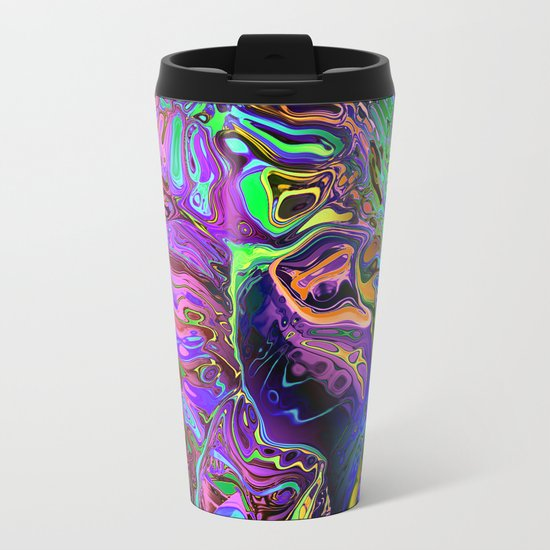 Reflective Colors Abstract Metal Travel Mug