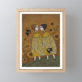 To Save the BEES! Framed Mini Art Print