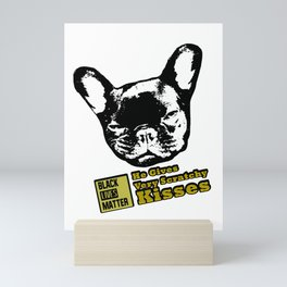 He Gives Very Scratchy Kisses Mini Art Print