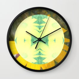 Yellow Coreopsis Flower Wall Clock