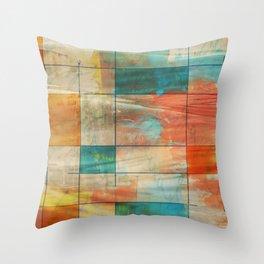 Mid-Century Modern Art 5.0 - Graffiti Throw Pillow