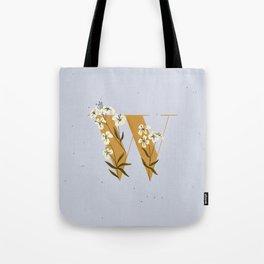 W for Wallflower Tote Bag